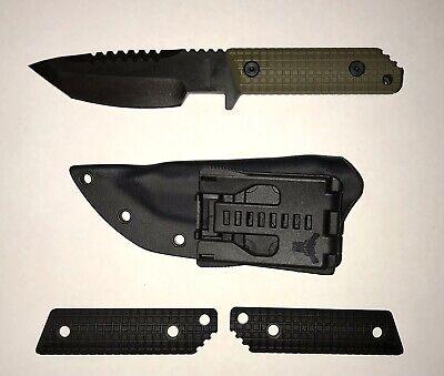 Strider Knives HT DUB 3V Fixed Blade Monkey Edge FRAG Grips (Mick Strider)
