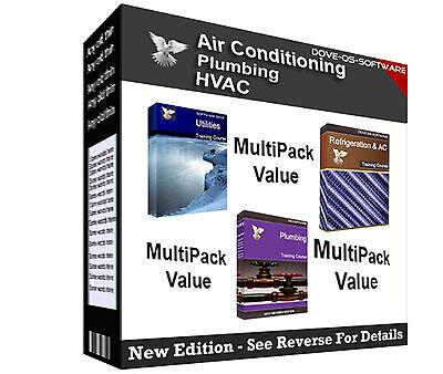 MULTIPACK - Refrigeration AC HVAC Plumbing Ventilation Training Books on CD