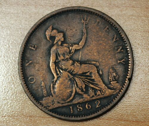 1862 Great Britain 1 Penny