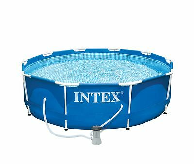 "Intex 10' X 30"" Metal Frame Swimming Pool with 330 GPH Filter Pump 28201EH"