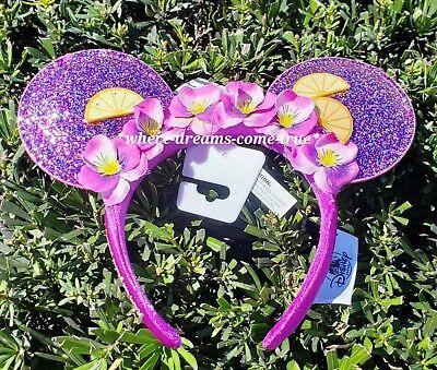 (Disney Minnie Mouse ears Headband Epcot Flower & Garden Festival Violet Lemonade)