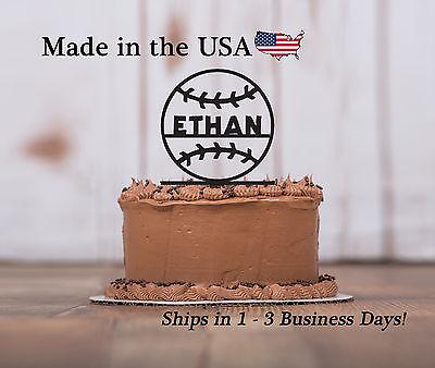 - Baseball Cake Topper, Softball, Tee Ball,Sports Birthday Party Keepsake - LT1141