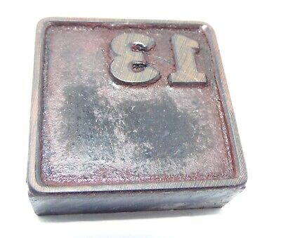 Vintage Printing Letterpress Printers Block All Wood Calendar Square 13