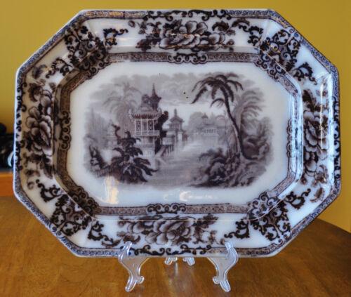 Lovely Antique Flow Mulberry Staffordshire Ironstone Platter Davenport Cyprus