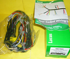bmw motorcycle wiring harness lucas motorcycle wiring harness