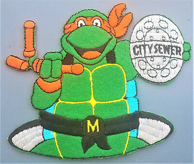 Ninja Martial Arts Fighting Green large Embroidered Iron Sew on Patch #432G
