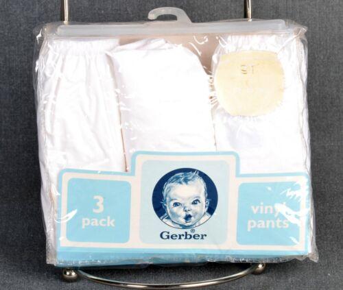 Gerber Diaper Covers Vinyl Pants 3 Pack Toddler Size 3T 32-25 lbs. 34-38 in.