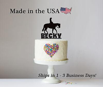 Cowgirl Birthday Topper, Horse Decor, Girls Party, Keepsake, Cowboy - LT1110