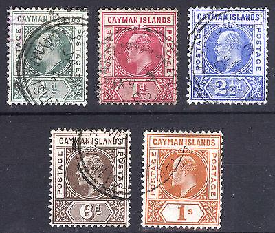 Cayman Is 1902 1/2d-1s Key Plate Wmk Crn CA SG 3-7 Scott 3-7 VFU Cat £225($366)