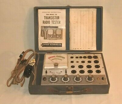 Vintage Accurate Instruments Co. 257 Tube Tester As Is For Parts