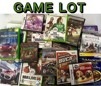 100 VIDEO GAMES LOT Ps2/PS3/xbox360/Xbox/Wii ALL GAMES Wholesale Bulk Game Lots