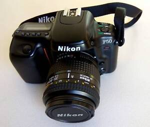 Nikon F50 film camera with 35-80mm automatic lens