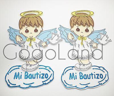 10 Baby Boy Baptism Baby Boy Hangable Foam Decoration Bautizo Boy Favors Blue (Baby Blue Foams)