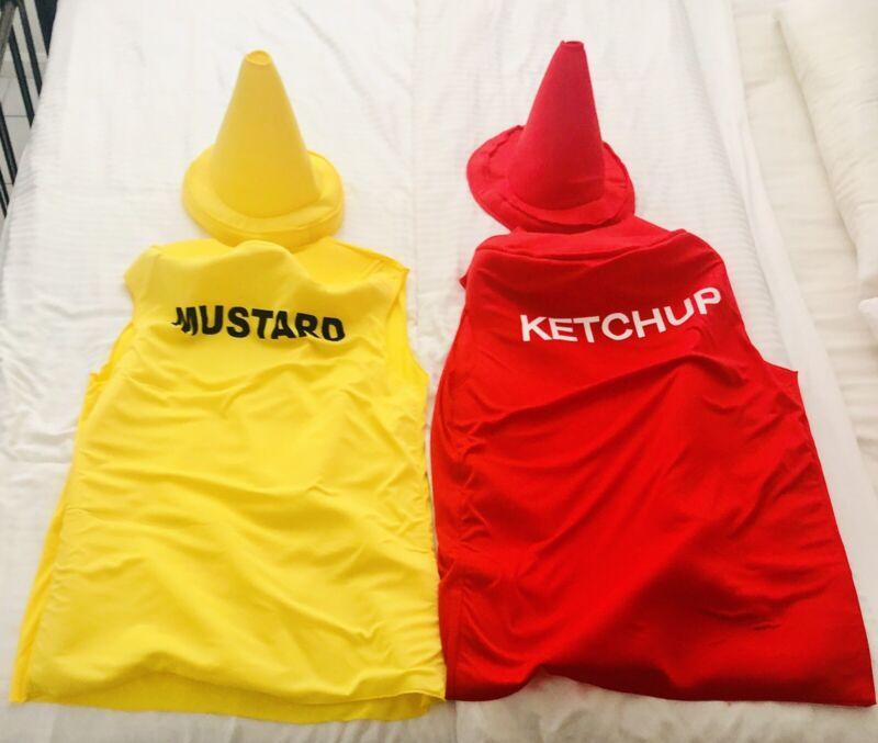 Ketchup & Mustard Halloween Adult Costume - Good Condition - Light Weight - Nice