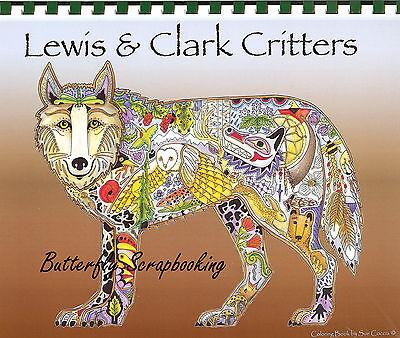 & Clark Animal Spirits 15 Pg EARTH ART Sue Coccia Watercolor (Aquarell Coloring Book)