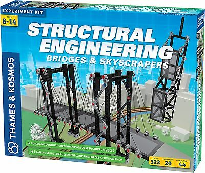 Structural Engineering Bridges & Skyscrapers Thames & Kosmos Experiment Kit