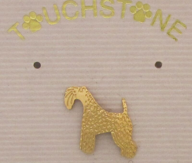 Kerry Blue Terrier Jewelry Small Gold Pin by Touchstone