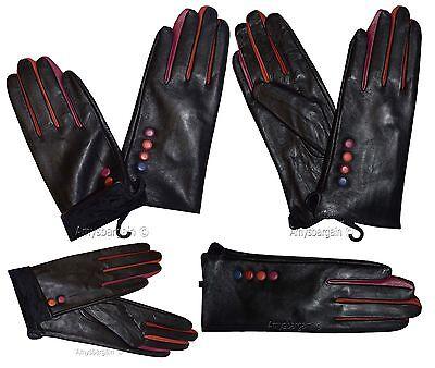 Leder Handschuhe Damen Winter Leder Kleid Handschuhe Schwarz Warme Handschuhe Bn