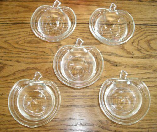 Vintage Glasbake Glass APPLE Ramekins Custard Cups  ~ Set of 5 ~
