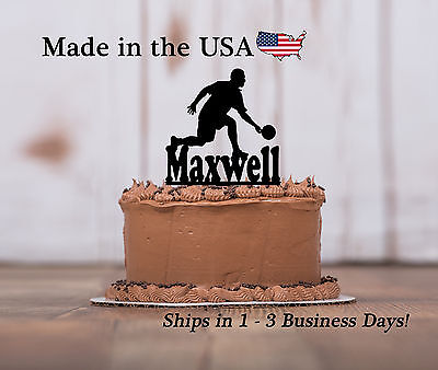 Male Bowler Cake Topper, Bowling, Team, Personlized Birthday - Bowling Cake Toppers