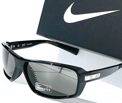 NEW* NIKE MUTE BLACK polished frame w Grey Lens Women's Sunglass EVo608 003