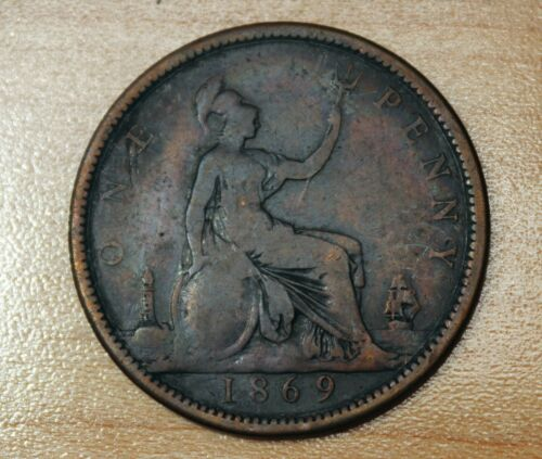 1869 Great Britain 1 Penny