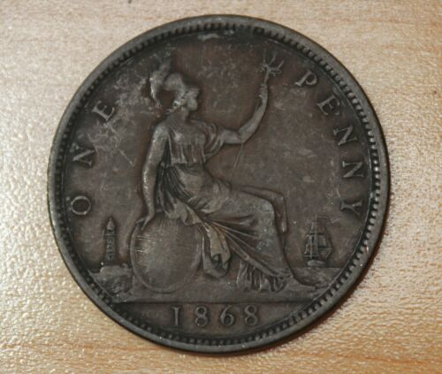 1868 Great Britain 1 Penny
