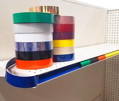 5 Pack - Decorative Gondola Shelving Vinyl Inserts 130 Ft X 1.25 In