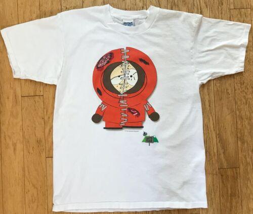 Vintage 1998 South Park Kenny Stitched Up 100% Cotton T Shirt ~ Men