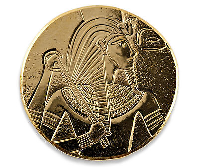 SPECIAL PRICE! 2017 1 oz .9999 Gold King Tut Coin - CertiLock Assay COA BU #A419