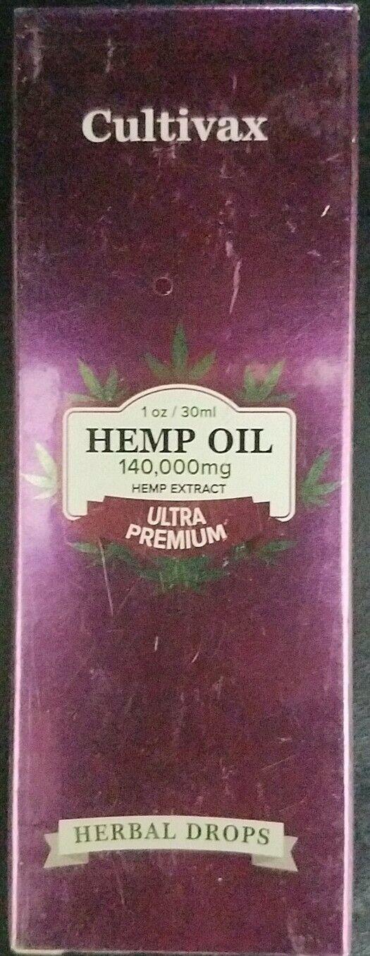 Cultivax Hemp Oil 140000mg (No Anxiety & Stress) ULTRA PREMIUM, 1oz