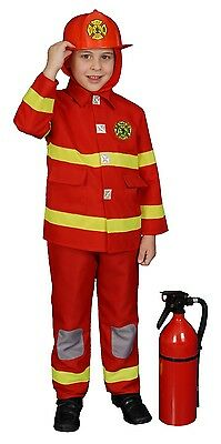 - Deluxe RED Fire Fighter Costume - Child