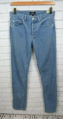 A.P.C. Rue Madame Paris 27 Button Fly Slim Leg Jeans 27 X 33