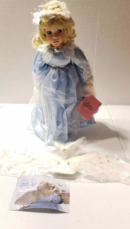 Paradise Galleries, Vintage Porcelain Doll ( Angel of Peace  ) Limited #1266