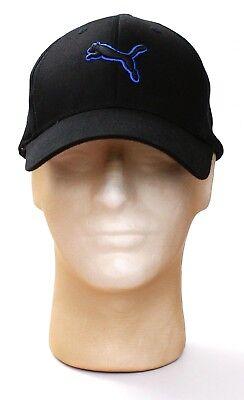 Cotton Stretch Logo Hat - Puma Black Cat Logo MX Cotton Stretch Fit Cap Hat Adult One Size  NWT