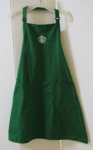 Official Green Starbucks Apron Gently Used Halloween Barista Costume One Size