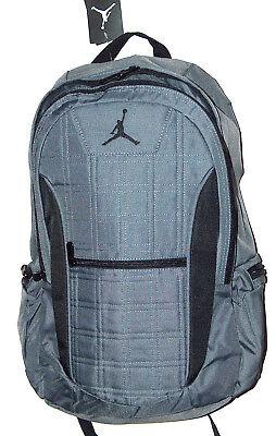 Nike Air Jordan Jumpman Flight Laptop Gray   Black Jumpman School Backpack  Bag 921986aaf2918