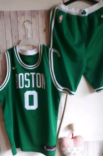 NBA Adidas Set Trikot Shorts BOSTON CELTICS Tatum Nr 0 Jersey L Jungendliche