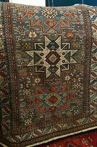 Antico tappeto caucasico Shirvan originale, disegno Lesghi - Antik caucasian rug - Italia - Antico tappeto caucasico Shirvan originale, disegno Lesghi - Antik caucasian rug - Italia