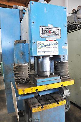 170 Ton X 17 Used Beckwood C-frame Down Acting Hydraulic Press Cf170f110p1618