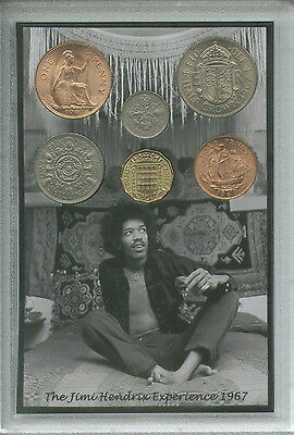 The Jimi Jimmy Hendrix Experience Are You Experienced Coin Display Gift Set 1967