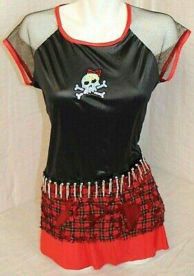 Halloween Costume Juniors Size S Punk Rocker Girl Skirt School Girl Rocker NICE!