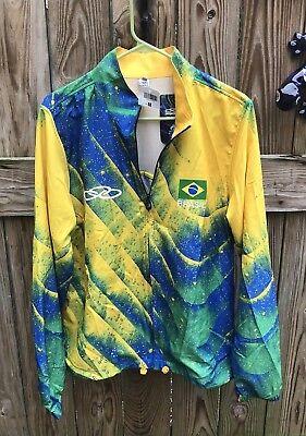 Brasil National Volleyball Team Warm Up Jacket Olympikus Men's Medium NWT