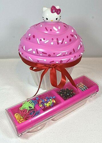 Hello Kitty Bead Party Cupcake Shaped Storage w/ Jewelry Making Craft Kit Set