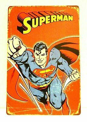New Superman Comic Book Tin Metal Sign Vintage Style Store Advertisement Comics