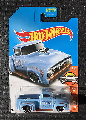 2017 Hot Wheels Custom '56 Ford Truck Kmart Exclusive Blue - Free Shipping