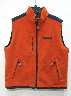 Abercrombie & Fitch Mens XL reversible Navy orange Performance Vest fleece nylon