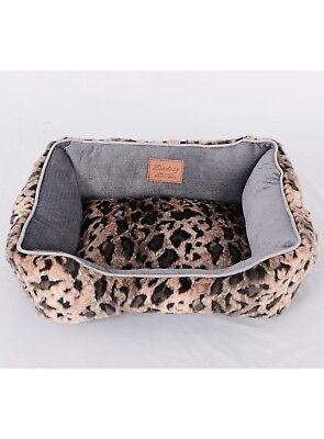 Lindsey Home Faux Fur Pet Dog Cat Warm Winter Bed Japanese Kanekalon Brown MED