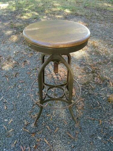 Vintage Toledo Stool Drafting Chair Architect adjustable swivel seat industrial