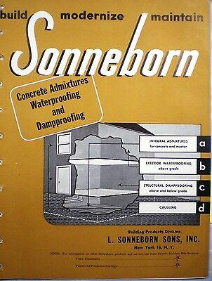 (SONNEBORN Asphalt Roof Coating Mastic ASBESTOS 1947)